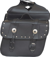 Saddle bags,Slanted & studded plain PV bags