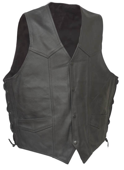 Motorcycle Leather Vests,Indian Chief Embossed Vest