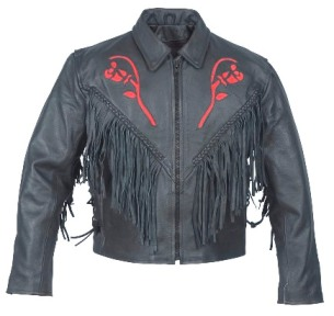 Womens Motorcycle Jackets,Red Rose Jacket