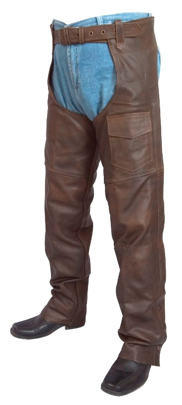 Leather Chaps & pants,Dark Brown Chaps