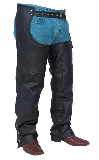 Leather Chaps & pants,Basic Motorcycle Chap Unlined