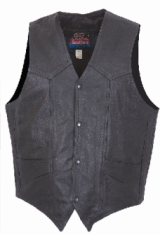 Motorcycle Leather Vests,Basic Leather Vest